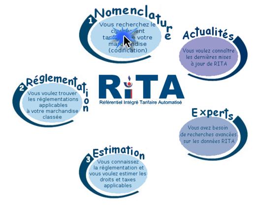 logiciel des douanes Française RITA